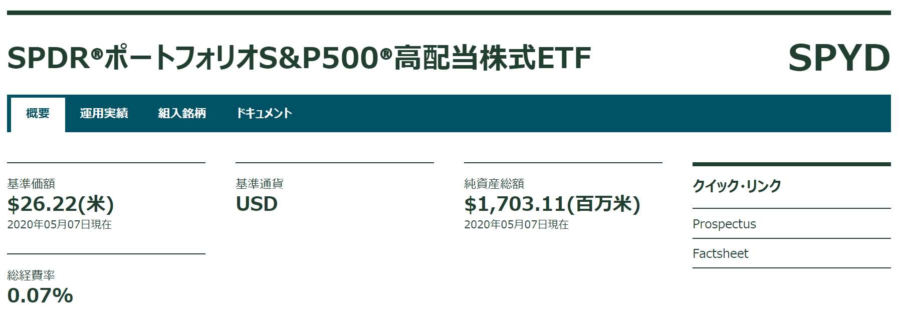 SPYD紹介ページ